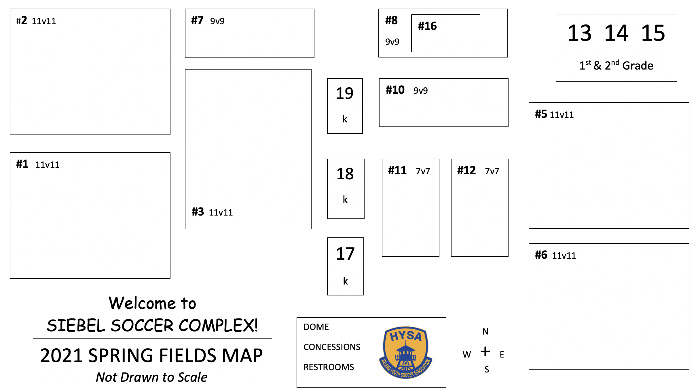 2021 Spring Fields Map