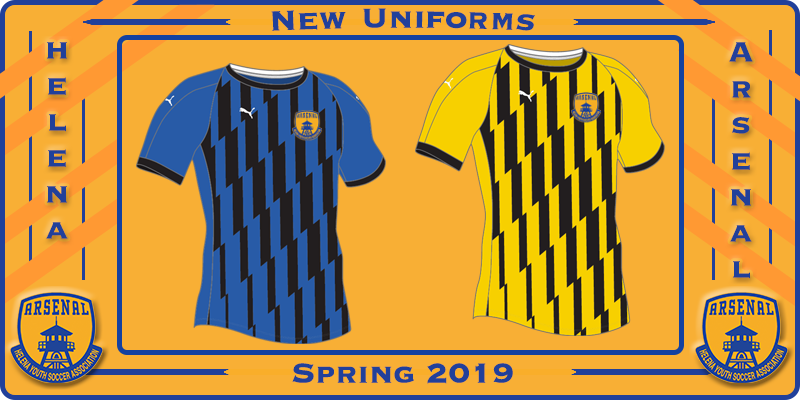 New Uniforms for Spring 2019 !