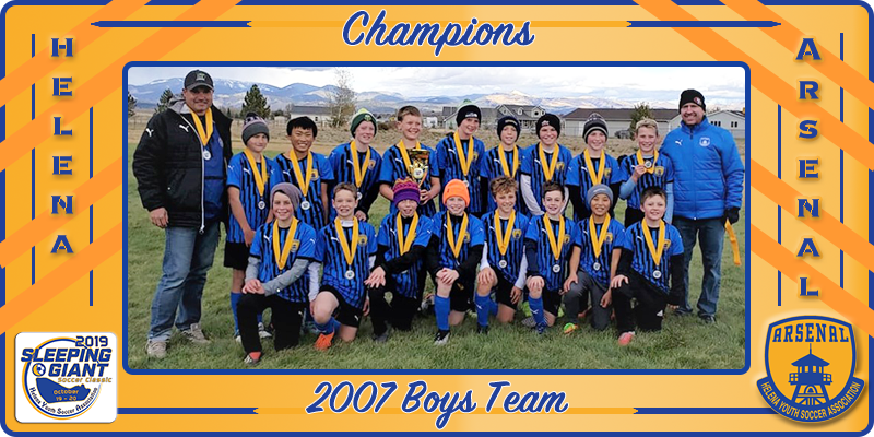 2007 Boys 2019 Sleeping Giant Champions