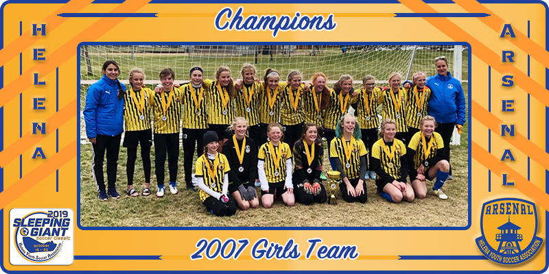 2007 Girls Champions at 2019 Sleeping Giant