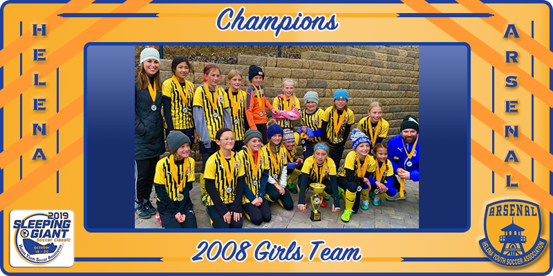 2019 Sleeping Giant 2008 Girls Champions