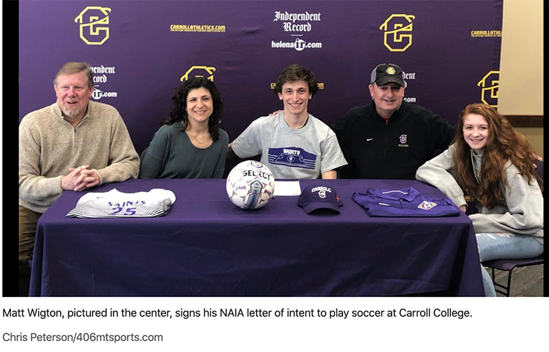 Matt Wigton signs with Carroll